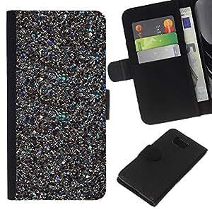A-type (Metal Sparkly Scraps 3D Bling) Colorida Impresión Funda Cuero Monedero Caja Bolsa Cubierta Caja Piel Card Slots Para Samsung ALPHA G850