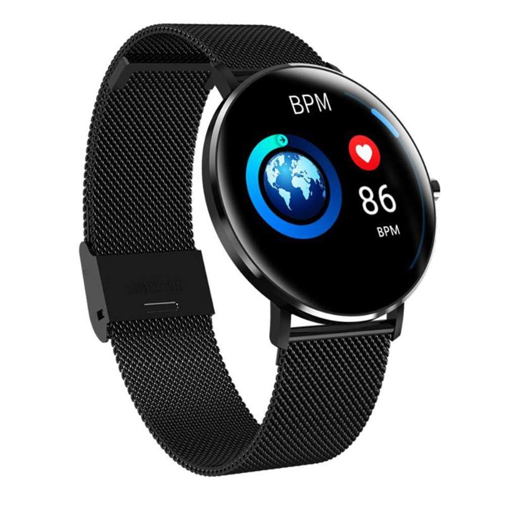 MYLJX 1.22 inch Touch Screen Smart Watch IP68 Waterproof Dynamic Heart Rate Monitor Pedometer Sports Bracelet Wristband-Black by MYLJX