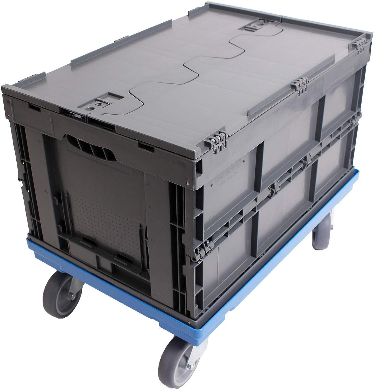 PLATAFORMA CON RUEDAS 60x40 + CAJA PLEGABLE CON TAPA 61L, caja ...