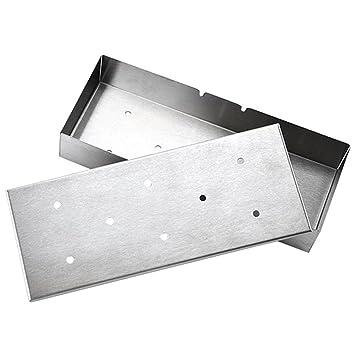 Caja para ahumar, de acero inoxidable de MyLifeUNIT barbacoa accesorios para barbacoa virutas de madera