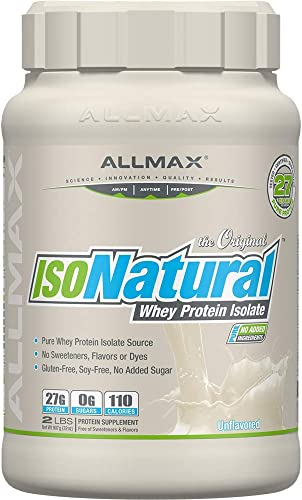 ALLMAX Nutrition – ISONATURAL Whey Protein Isolate – Unflavored – 2 Pound