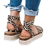 Ecolley Casual Sandals for Women Sexy Plain Ankle