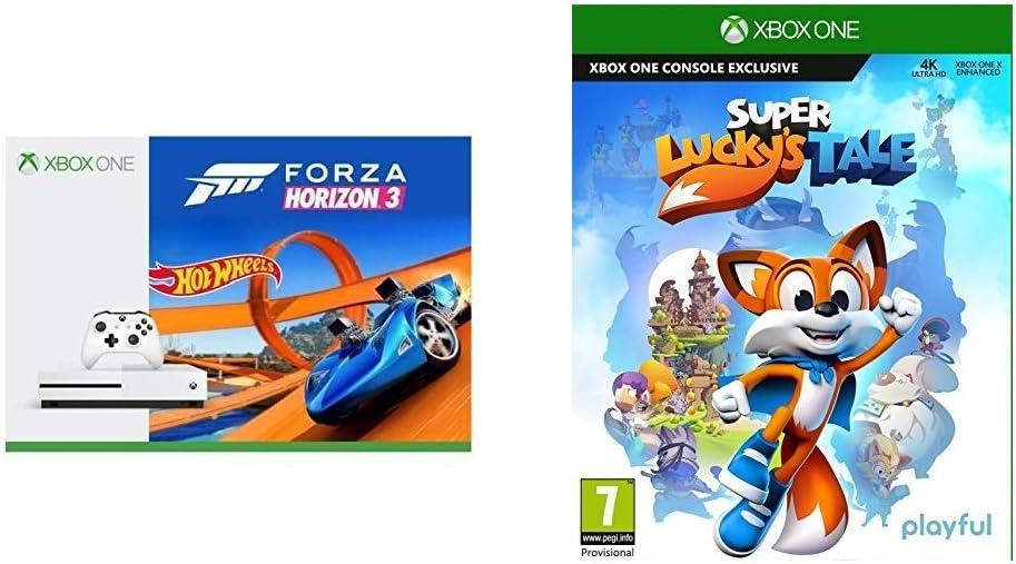 Xbox One S - Consola 500 GB + Forza Horizon 3 + Hot Wheels + Super Luckys Tale: Amazon.es: Videojuegos