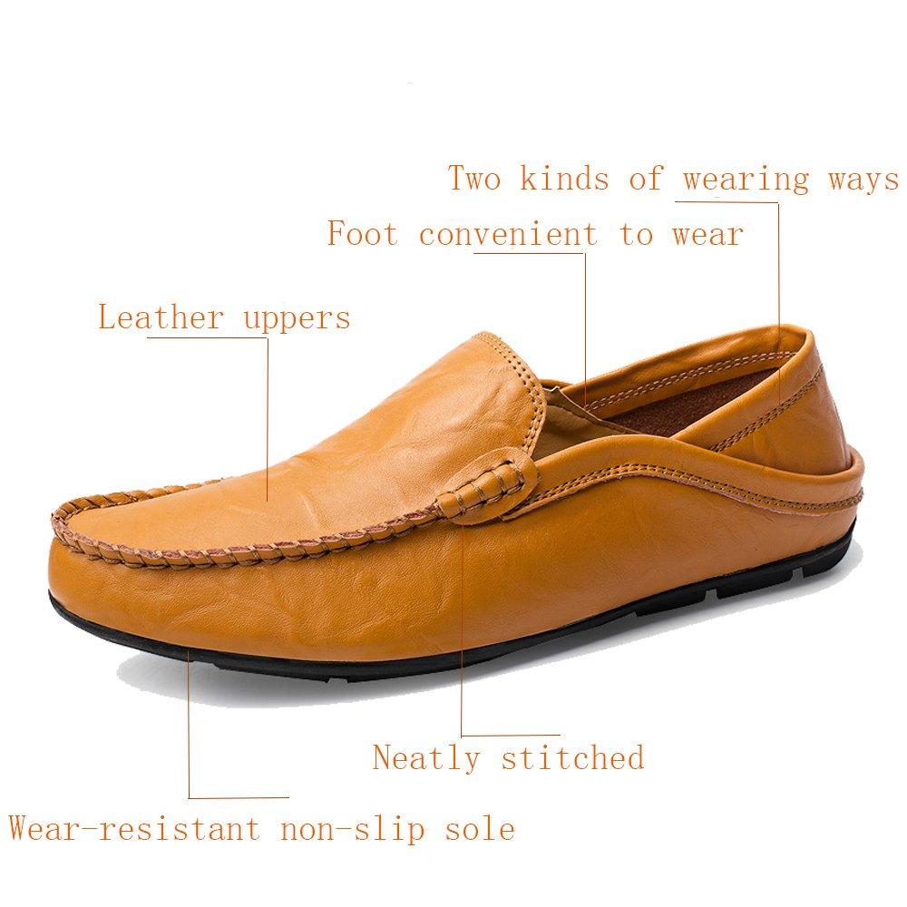 KAMIXIN Mocasines Hombres Zapatos de Vestir Casuales Holgazanes Slip On Verano Plano Cuero Zapatos de Conducción Zapatillas: Amazon.es: Zapatos y ...