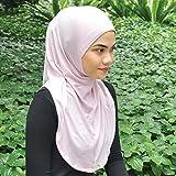 Silk Story One piece al amira Hijab Instant Head Scarf Cotton Lycra (Baby Pink)