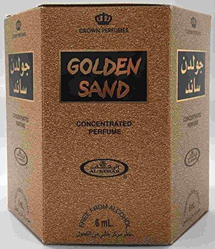 (Golden Sand - 6ml (.2oz) Roll-on Perfume Oil by Al-Rehab (Crown Perfumes) (Box of 6))