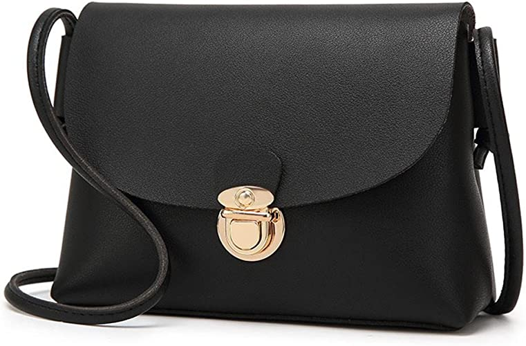 Womens Small Faux Leather Butterfly Pattern Crossbody Messenger Shoulder Handbag