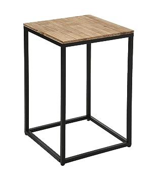 acheter en ligne 8b7ef 21c78 Table d'appoint, Table de Chevet ou Bout de canapé en Bois et métal - Style  Industriel, Vintage et Atelier