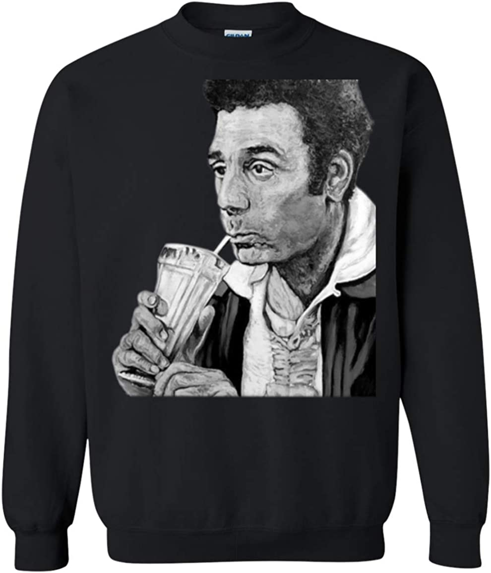 Smoking /& Drinking Vintage Clothing 99 Kramer Heres to Feeling Good All The Time Crewneck Pullover Sweatshirt 8 oz.