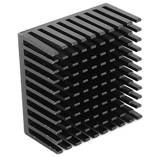 5Pcs Mini Cooler Heat Sink Aluminum Cooling Heatsink Fin Radiator Cooler Fin 40 x 20 x 40mm for Set-top Box and LED Black