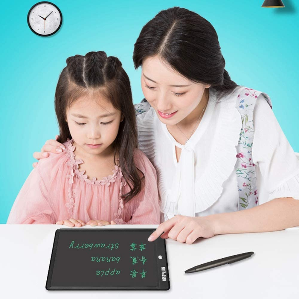 Black LDYOC Suitable for Home School Office Memo Notebook Ideal Birthday Graphics Tablet Writing LCD 12 Inches Electronics Portable Whiteboard Drawing with Pen Children Designer Students Family,