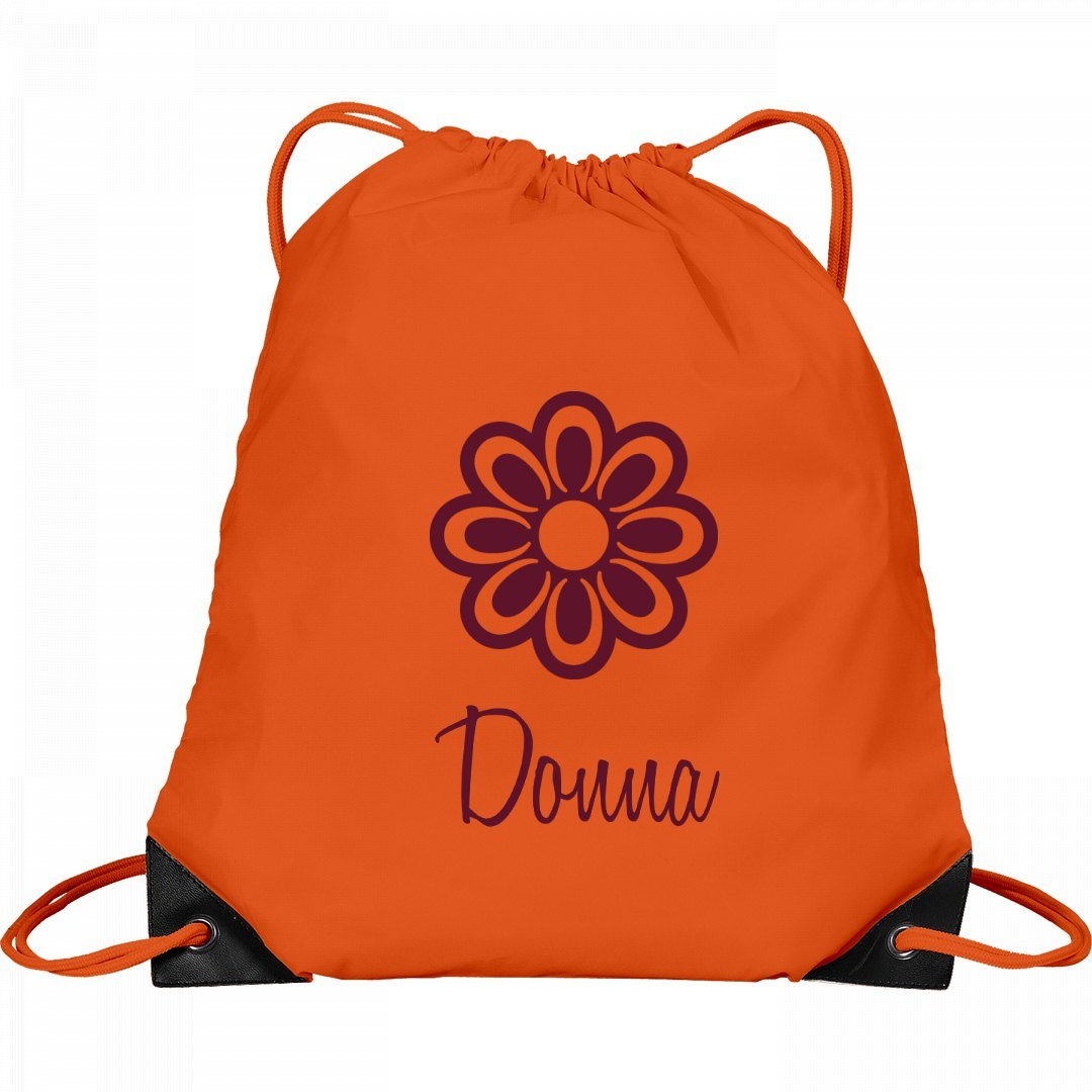 Flower Child Donna: Port & Company Drawstring Bag