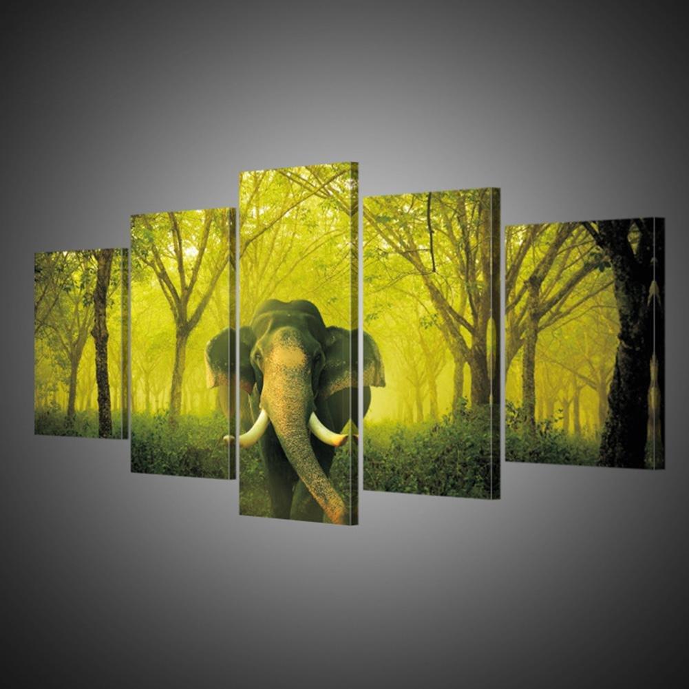 PIO GFRWallart Leinwand Wandkunst Wand paiting Wandgem/älde Elch Poster Leinwand Wohnzimmer dekoriert Malerei Wandbilder 5 Bl/ätter // Set SizeA With Borders