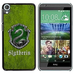 EJOY---Cubierta de la caja de protección la piel dura para el / HTC Desire 820 / --Slytherin Escudo