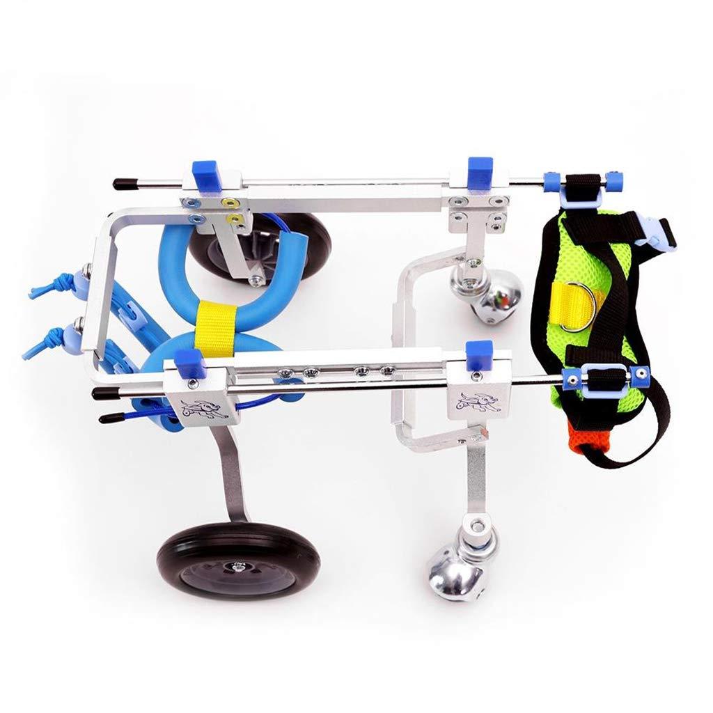XXS Zyy Pet Bag Adjustable Pet Wheelchair 4 Wheel Dog Wheelchair Cart Kit For Handicapped Leg Exercises Dogs Cats Bicycles (Size   XXS)