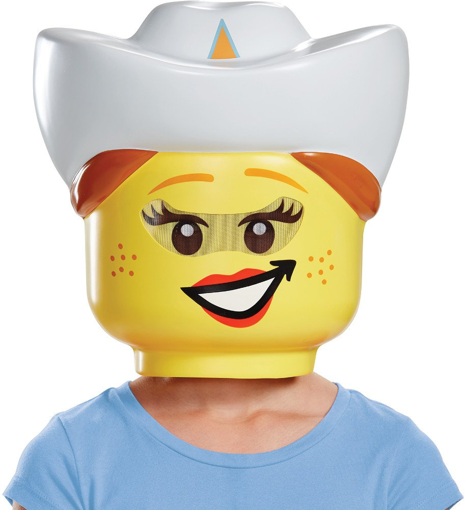 Child's Girls LEGO Iconic Characters Cowgirl Mask Costume Accessory Disguise Costumes