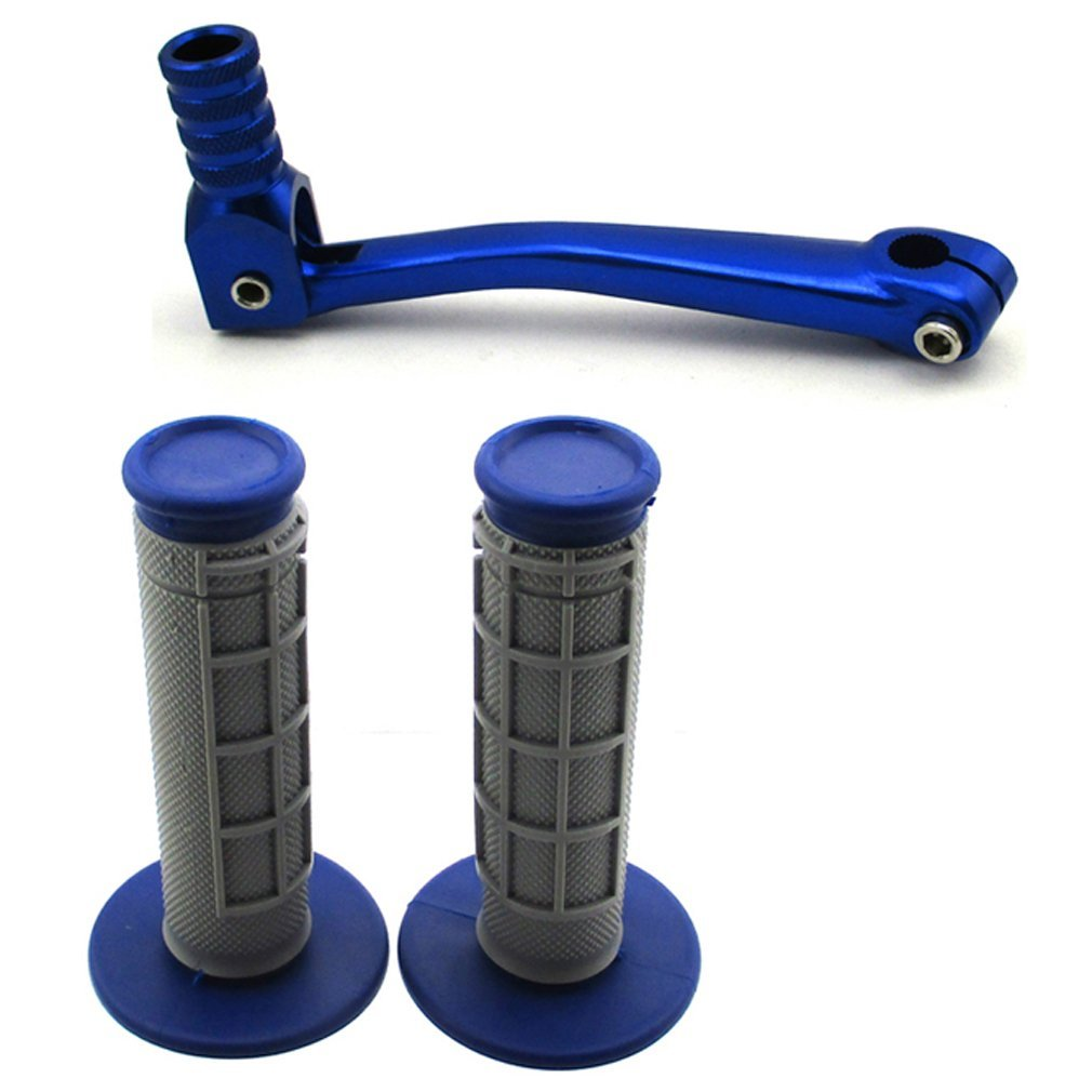 TC-Motor 11mm Gear Shifter Lever Throttle Handle Grips For 50cc 70cc 90cc 110cc 125cc 140cc 150cc 160cc Chinese Pit Dirt Trail Bike Motorcycle Motocross SSR Thumpstar YCF SDG GPX DHZ Coolster Blue