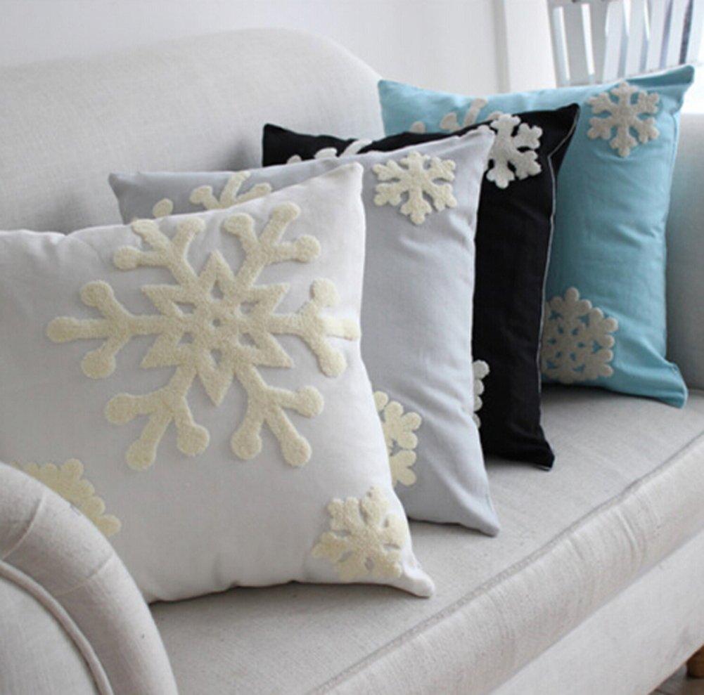 Amazon.com: E.life Soft Square Christmas Snowflake Theme Home ...