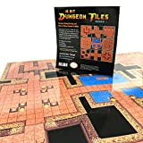 Dry & Wet Erase D&D Dungeon Tiles - Retro 16-Bit Videogame Style - For Tabletop Roleplaying Games, DnD, Pathfinder RPG
