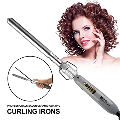 Tenazas para rizar 16 mm 19 mm 22 mm 25 mm de Cerámica Turmalina rizadores de Pelo Curling Wand Gran Barril Curling Iron (Tamaño : 16mm): Amazon.es: Joyería