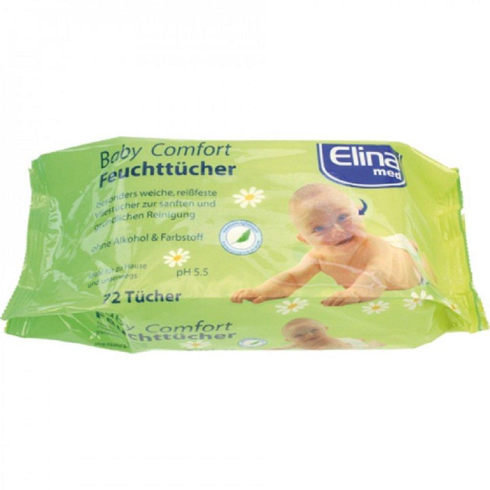 5 Pack Feuchttücher Babytücher Babyzubehör 72 Stück Elina