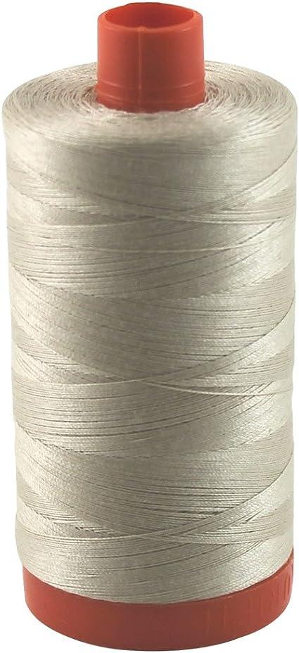 Cotton Mako 50wt Large Spool 1300m Light Tan Aurifil Thread 2312 ERMINE