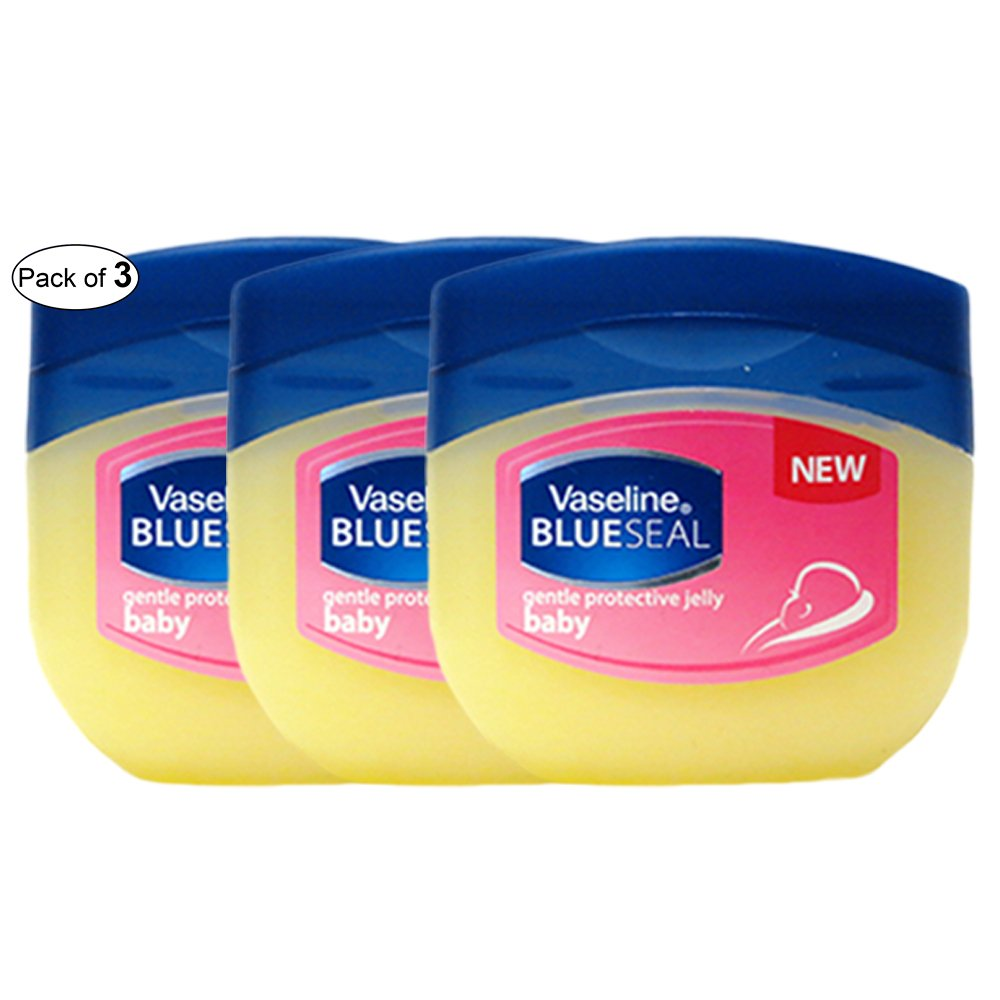 Vaseline Gentle Petroleum Jelly Blue Seal Baby (100ml) (Pack of 3) B0789S4DJ6