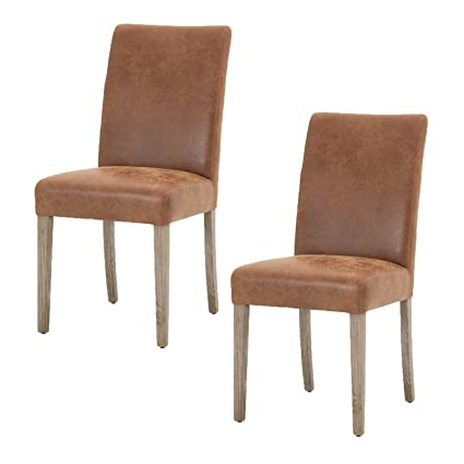 Ordinaire Orient Express Furniture Lattice Dining Chair, Chestnut Leather, Set Of 2