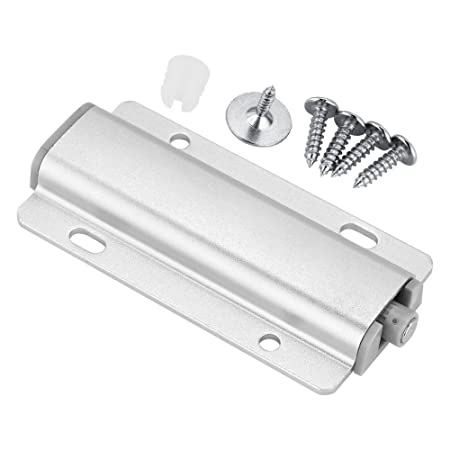 Cabinet Door Drawer Damper Buffer Push to Open System Latch with Magnetic Tip(3.43x1.77in-Silver)