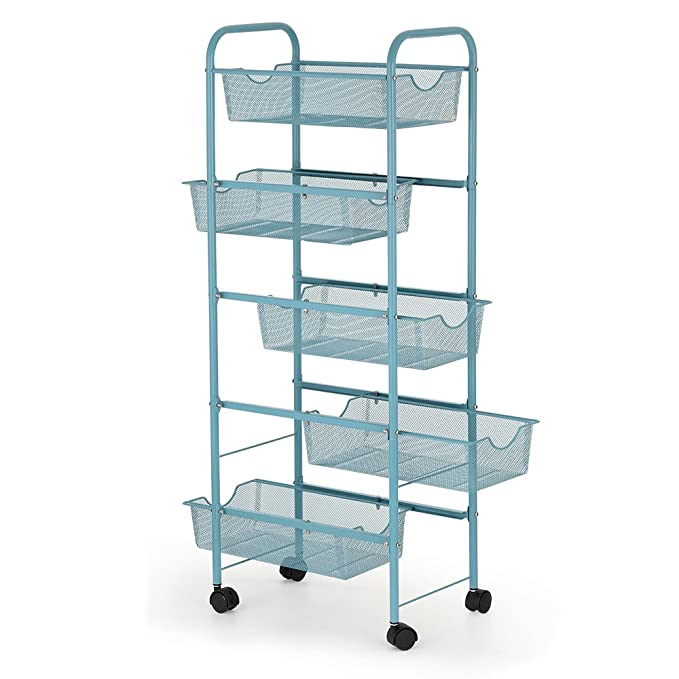 Amazon.com : NEX Utility Cart with wheels Mesh Wire Basket for Home ...