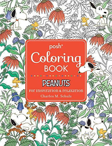 Posh Adult Coloring Book: Peanuts for Inspiration & Relaxation (Posh Coloring Books) - Brown Snoopy Puzzle