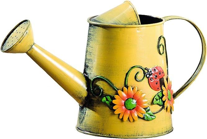 Amazon.com: HGC decorativa girasol y catarina Metal regadera ...