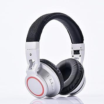 Auriculares de diadema Bluetooth 4.2, inalámbricos con micrófono, auriculares ligeros de alta fidelidad,