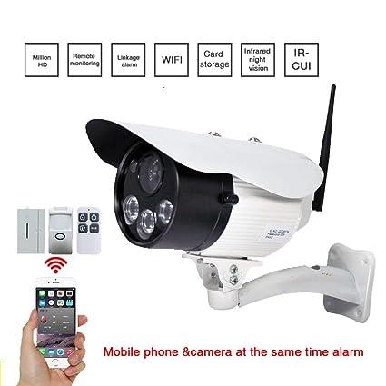 Pinkbenmus - Detectores De Seguridad / 1 millón de píxeles, Cámara Inalámbrica Bulit En Altavoz