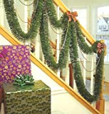 F.C. Young 30 Indoor/Outdoor Green Mountain Pine Artificial Christmas Garland - Unlit