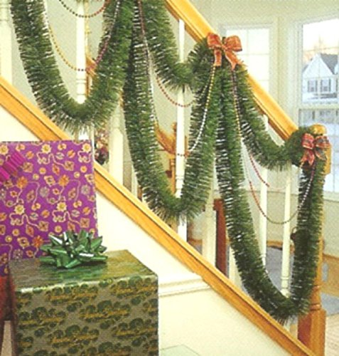F.C. Young 30' Indoor/Outdoor Green Mountain Pine Artificial Christmas Garland - (Christmas Garland Decorations)