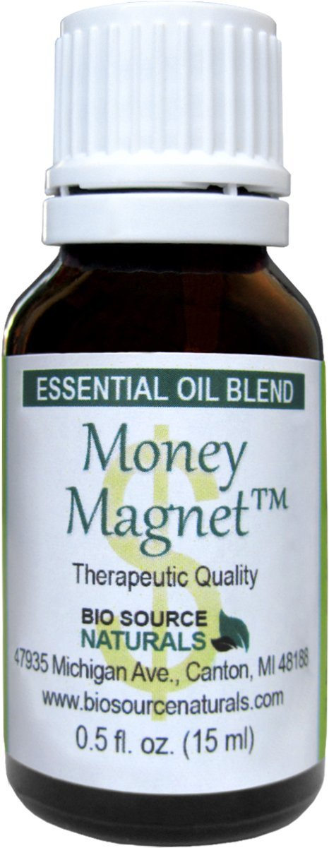 Money Magnet Essential Oil Blend 1.0 fl oz / 30 ml for Law of Attraction and Abundance by Biosource Naturals