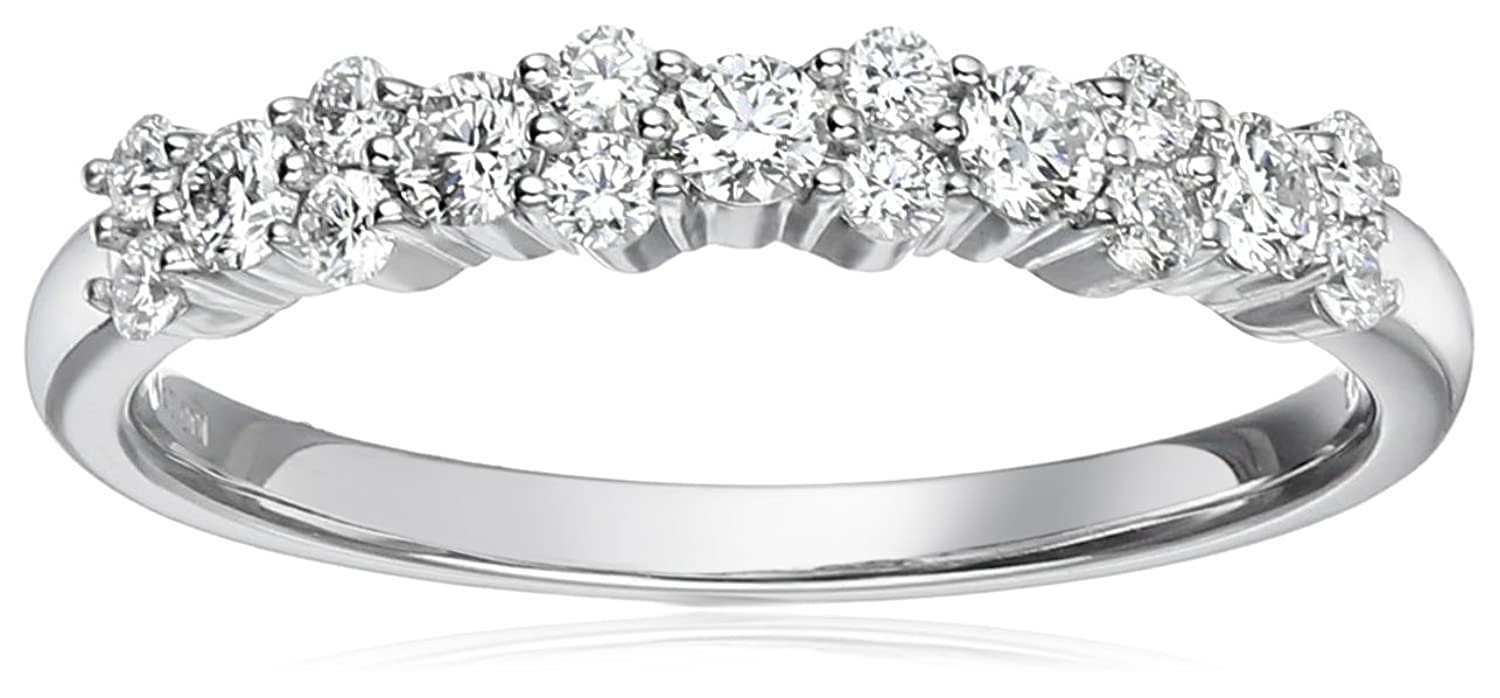 14k White Gold and Diamond Anniversary Ring (1/2 cttw, H-I Color, I1-I2 Clarity)