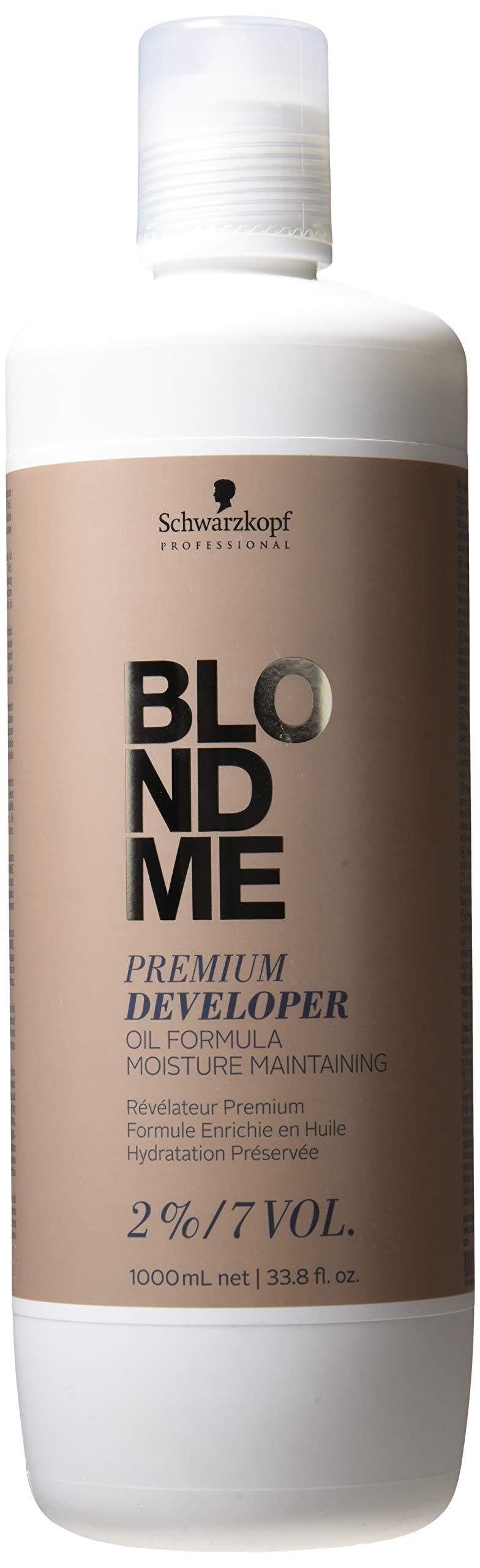 Schwarzkopfblondme Premium Developer 2% / 7 Volume Hair Color Developer, 33.8 Ounce, 1 L by Schwarzkopf