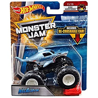 Hot Wheels Monster Jam 2020 Epic Additions Megalodon (with Re-Crushable Car) 1:64 Scale: Toys & Games
