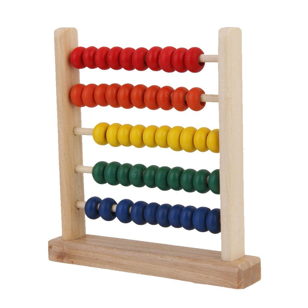 Ábaco de Madera Juguete de Educativo Aprendizaje Matemáticas para Niños Genérico
