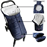 warm cuddly weather resistant baby footmuff fits most of strollers pushchair and joggers,Extendable,Adaptable,Convertibale,the best baby shower gift