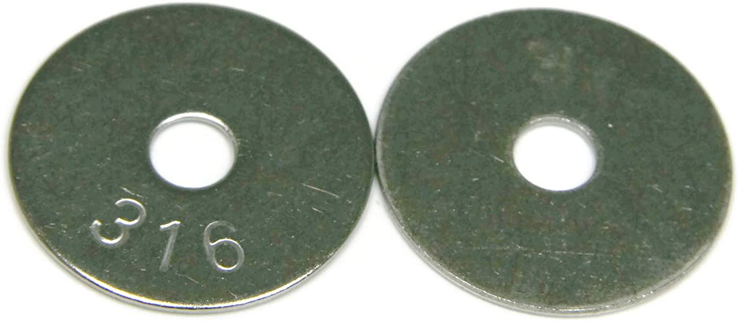 Fender Washers 316 Stainless Steel 1//4 x 1-1//2 Qty 25