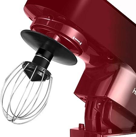 Feuille Fouet Hozodo Robot P/âtissier,800W Robot de Cuisine avec Crochet,Batteur /Électrique 4L avec 6 Vitesses Robot Multifonctionne avec protection anti-/éclaboussures Rouge