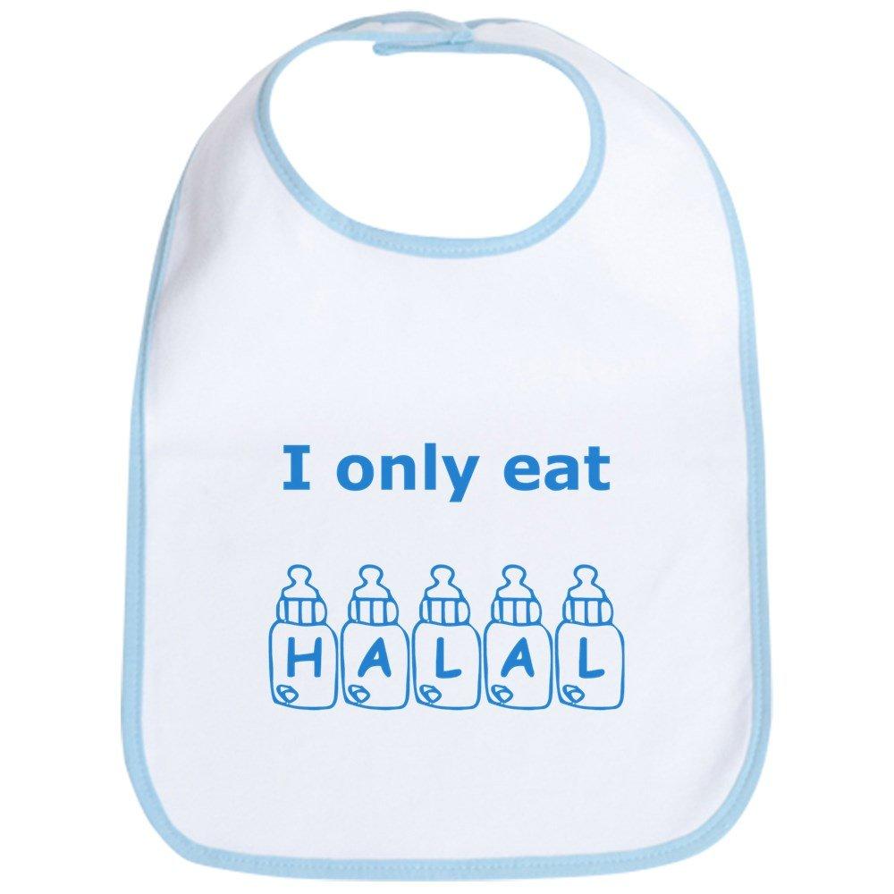 CafePress - I Only Eat Halal Bib - Cute Cloth Baby Bib, Toddler Bib