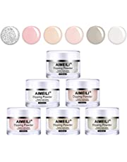 AIMEILI Nail Dipping Powder Nail Art Powder 6 Colors Acrylic Powder set French Manicure