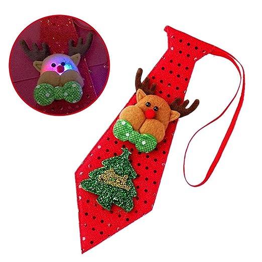 Ablerfly - Corbata de Navidad con Lentejuelas, Color Rojo, C#, as ...