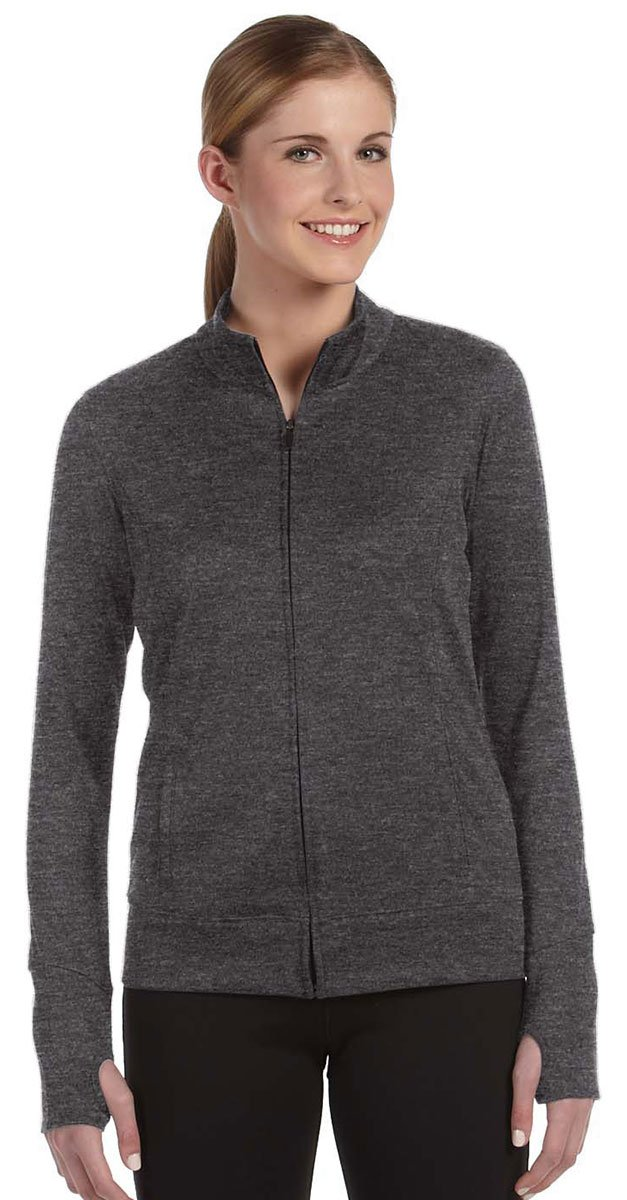 ALO Sport All Sport Ladies Lightweight Jacket, Large, Dk Grey Heather