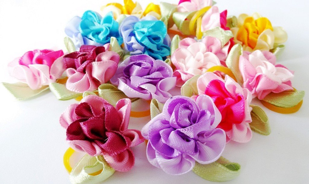 PET SHOW Flowers Pet Dog Hair Bows W//Rubber Bands Cat Puppy Grooming Accessories Assorted Color