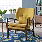 Ventura Mid Century Modern Fabric Club Chair, Cream